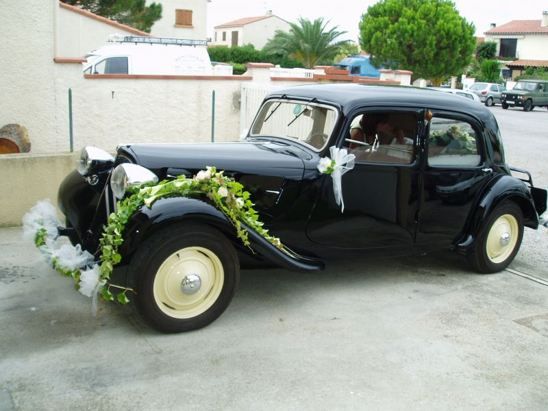 decoration voiture mariage traction